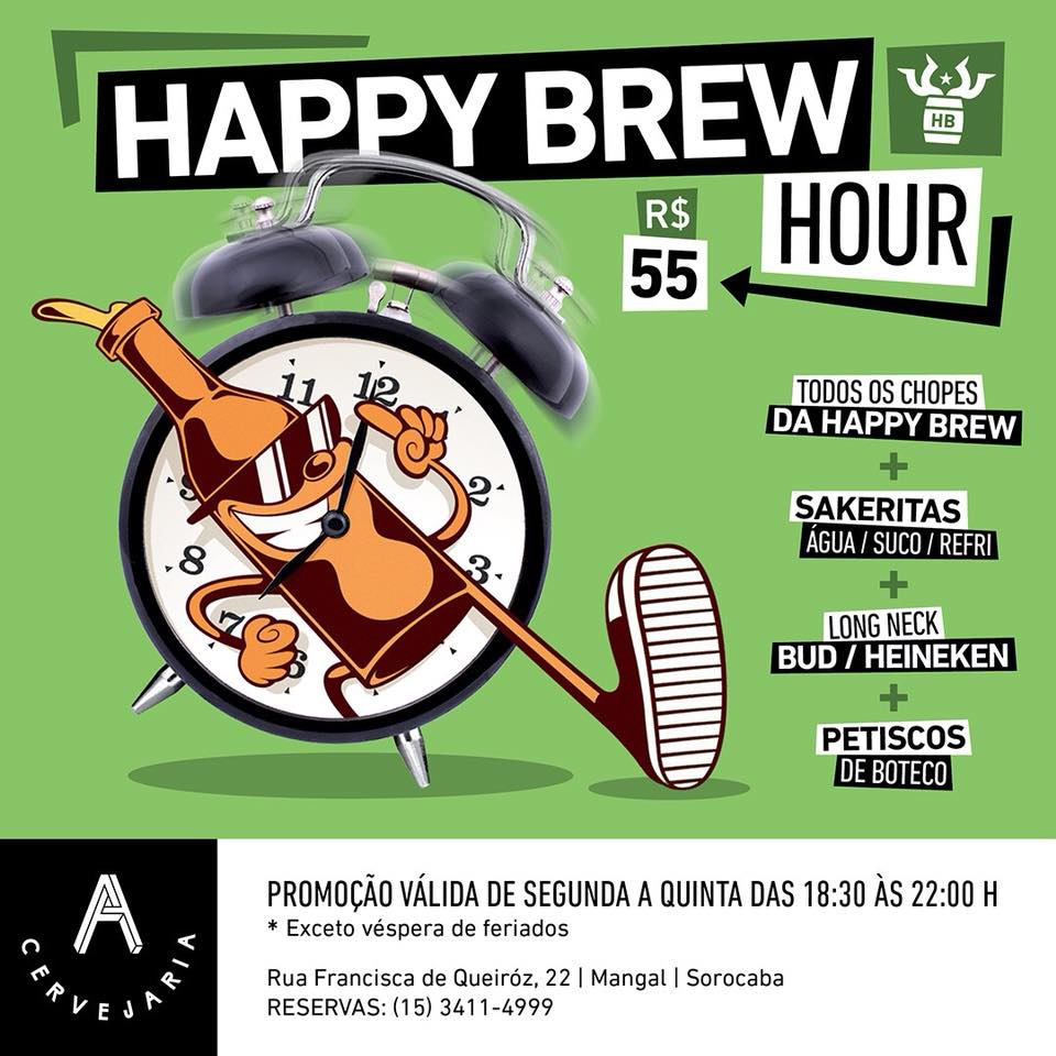 happy brew hour a cervejaria cartaz