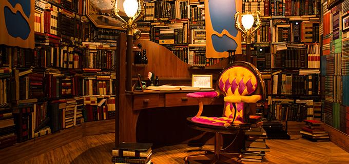 biblioteca do castelo rá-tim-bum