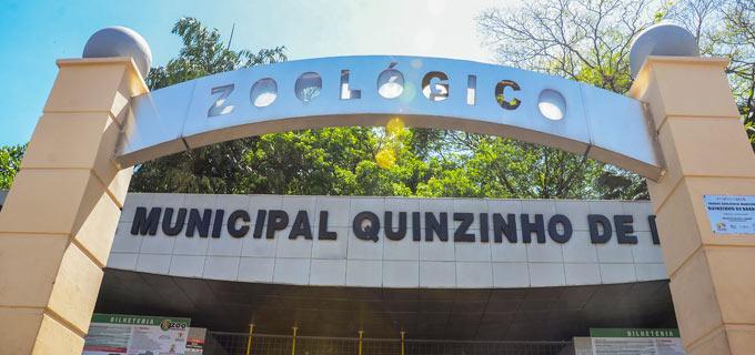 fachada da entrada do zoológico municipal de Sorocaba