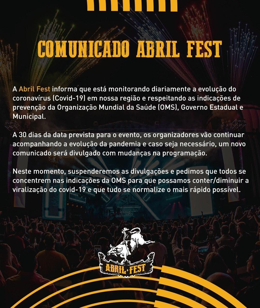 abril fest comunicado