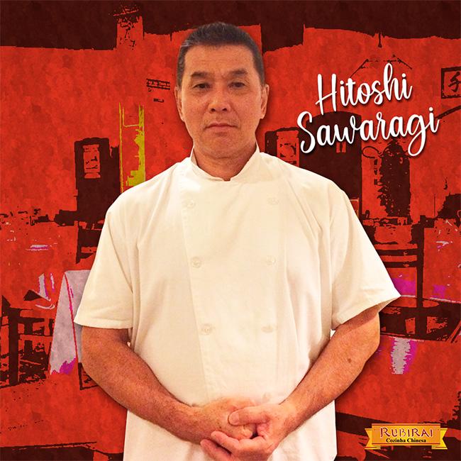 Chef Hitoshi Sawaragi do restaurante Rubirai