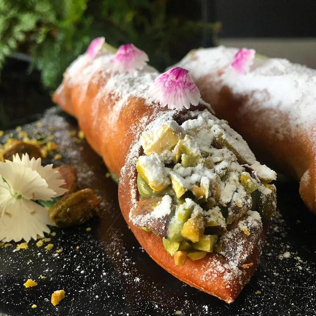 canolli de pistache vegan safe