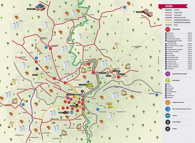 mapa da ciclovia sorocaba
