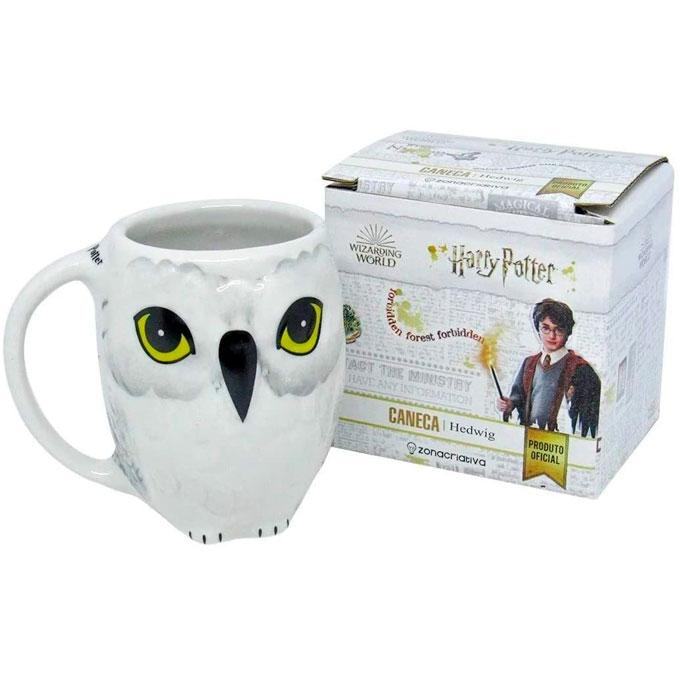 caneca coruja harry potter