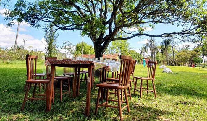 restaurante brasil caipira mesas natureza